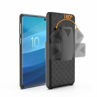 For Samsung Galaxy S10 (SMG973) Armor Shell Holster Combo Case Belt Clip Cover