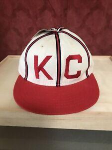 Kansas City Monarchs hat cap KC Royals 1942 Paige American Needle Size 6 7/8