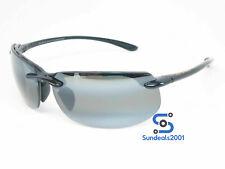 Maui Jim 412-02 Banyans Sunglasses Gloss Black/ Grey Polarized Lenses