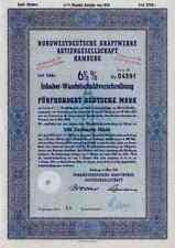 Noroeste alemana centrales eléctricas 1952 hamburgo Weimar Lübeck 500 dm prensas Elektra