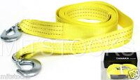 """Tanaka Heavy Duty Tow Strap with Hooks 10,000 Lb Capacity (2"""" X 20') Yellow Rope"""