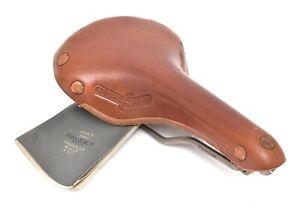 Brooks Swift Titanium Brown Leather Bike Saddle 150mm 7 x 7mm Rails Racing
