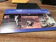 REPUBLIC OF THE MARSHALL ISLANDS FIRST MEN ON THE MOON $5 SILVER COIN