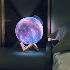 3D Print Star Moon Lamp Colorful Change Touch Creative USB LED Night Light