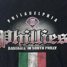 Philadelphia Phillies 2009 MLB Black T-Shirt Mens XL Worn Baseball South Philly