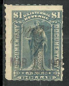 U.S. Revenue Documentary stamp scott r190 - $1.00 overprint issue of 1902 - xx