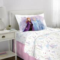 Disney's Frozen II Kids Bed Sheet Set, Elsa & Anna, Spirit of Nature, Twin New