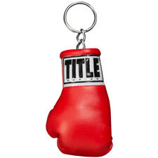 Title Boxing Authentic Detailed Mini Lace up Glove Key Ring Red