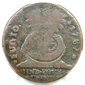 1787 9-T R-6 PCGS VG 10 STATES UNITED 4 Cinq Fugio Colonial Copper Coin