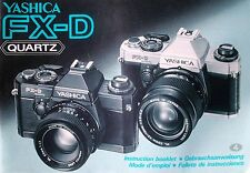 YASHICA FX-D SLR 35mm CAMERA OWNERS INSTRUCTION MANUAL -YASHICA