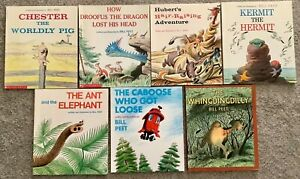 BILL PEET (7) Picture Books DROOFUS Hubert CHESTER Caboose KERMIT ++ GC