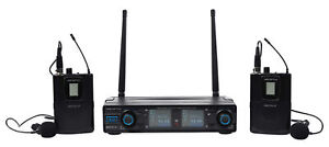 Vocopro Digital-2C UHF Dual Wireless Lavalier Microphone System/Rechargeable