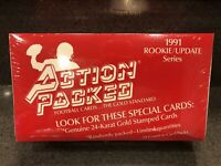 1991 Action Packed Rookie Update Factory Sealed Football Red Box 24K Gold Cards