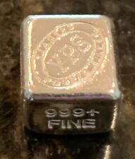 """1 Oz. Yeager YPS Hand Poured 999 Silver Bullion Bar """"Cube"""""""