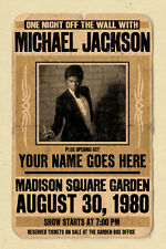 your name on a Michael Jackson concert poster! - personalized gift!