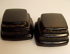 2 Lg Orgone Step Blocks Black Sun Brass Quartz Crystals Tower Buster