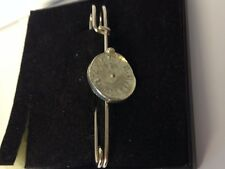 "Old Pocket Watch Tg379 Pewter Scarf and Kilt Pin Pewter 3"" 7.5 cm"