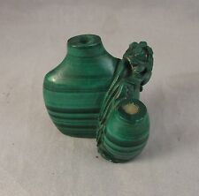 Antique Chinese malachite snuff bottle Qing