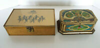 Vintage Silhouette Jewelry Box N.M. Stone Co Chicago Artstyle Chocolate Tin Deco