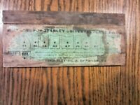 ANTIQUE STANLEY #55 14 CUTTERS IN BOX No 3