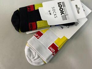 Look Uni Replica Socks (S/M-38/41, L/XL-42/45 ) Black,White