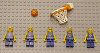Lego Basketball MINIFIGURES Lot 5 Players People Lego Basketball Minifigs Guys