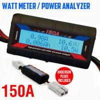 150A Digital LCD Watt Meter Power Analyser Solar Caravan Anderson Plug Tool AU