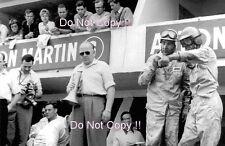 Carroll Shelby et Roy Salvadori Aston Martin Portrait Le Mans 1959 photographie
