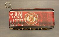 """Manchester United Pencil Case 8.5"""" Long By 4"""" Deep"""