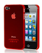 CASE COVER FOR IPHONE 4 4S SLIM RIGID CRYSTAL CLEAR TPU PROTECTOR