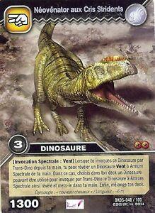 Carte Card Game DINOSAUR KING DKDS - 40 /100 NEOVENATOR AUX CRIS STRIDEN 1300 VF