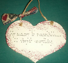 WALL PLAQUE/HANGING/HEART/ MY MEMORY IS REMARKABLE.....