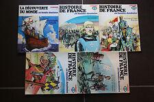 HISTOIRE DE FRANCE EN BANDE DESSINEE/N°4 A 8/TBE/1977