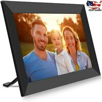 """10"""" WiFi Digital 1080P Full HD IPS Touch Screen Electronic Photo Picture Frame"""
