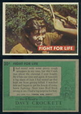 (53553) 1956 Topps 30A Davy Crockett Green Back Fight For Life-EX