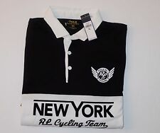 $145 NWT AUTHENTIC POLO RALPH LAUREN PIMA-BLEND RUGBY CYCLING TEAM SHIRT,SIZE XL