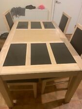Marble Insert Dining Table and 4 Dining Chairs