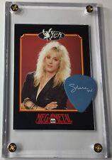 Vixen Share Mega Metal trading card #144 / 2014 tour blue guitar pick display!