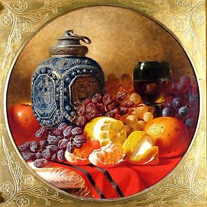 Still life Wine Orange Grapes Fruit Tile Mural Kitchen Backsplash Marble Ceramic