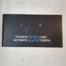 Instruction Manual Booklet 1968 Polaroid Automatic 220 Land Camera