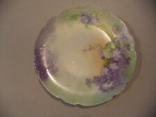 Antique Haviland Limoges French Porcelain Hand Painted Violets Cabinet Plate!
