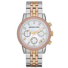 Women's Watch Michael Kors MK5650 'Ritz' Dress Watches Tri-Tone Pearl Dial