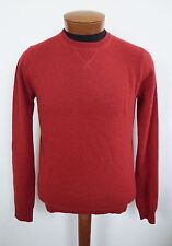 $315 NWT LINCS DC & CO Red 100% CASHMERE Crewneck Sweater S
