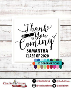 Thank you for coming! 2020 Graduation Personalized Party Favor Square Stickers