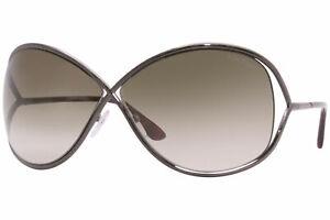 Tom Ford Women's Miranda TF130 TF/130 36F Bronze/Gold Fashion Sunglasses 68mm