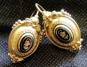 Biedermeier Ohrringe Gold 585
