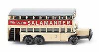 WIKING HO SCALE 1/87 DBL DECK BUS SALAMANDER | BN | 87304
