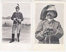 TWO POSTCARDS OF SOLDIERS - Early Military - c1900s era