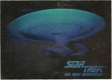 TC Star Trek TNG Inaugural Hologram Card 05H Gold USS Enterprise 1701D