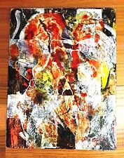 Rare Mixed Media Oil on Board Painting Signed Lilia Carrillo